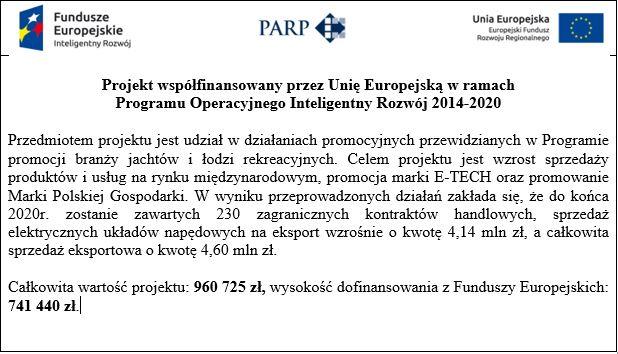 E-tech-dofinansowanie z Unii Europejskiej