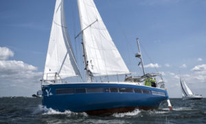 The Ya is specially designed and built as a sustainable sailing vessel.