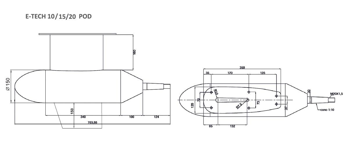 Schemat silników E-TECH 10 / 15 / 20 POD